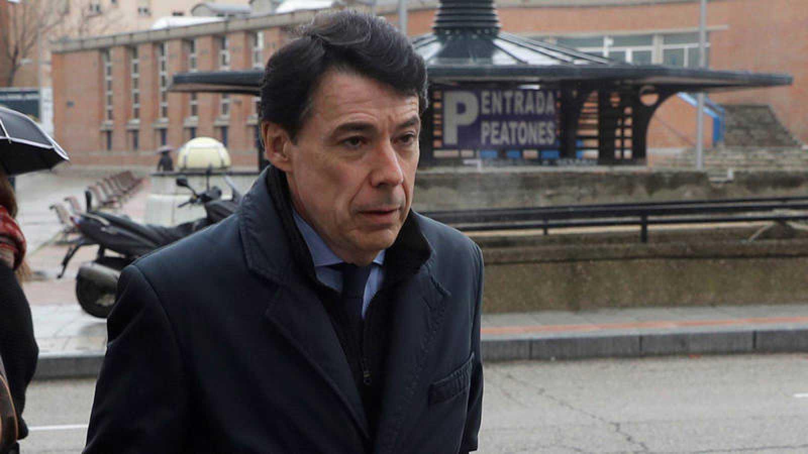 El expresidente de la Comunidad de Madrid Ignacio González a su llegada a los juzgados de la Plaza de Castilla