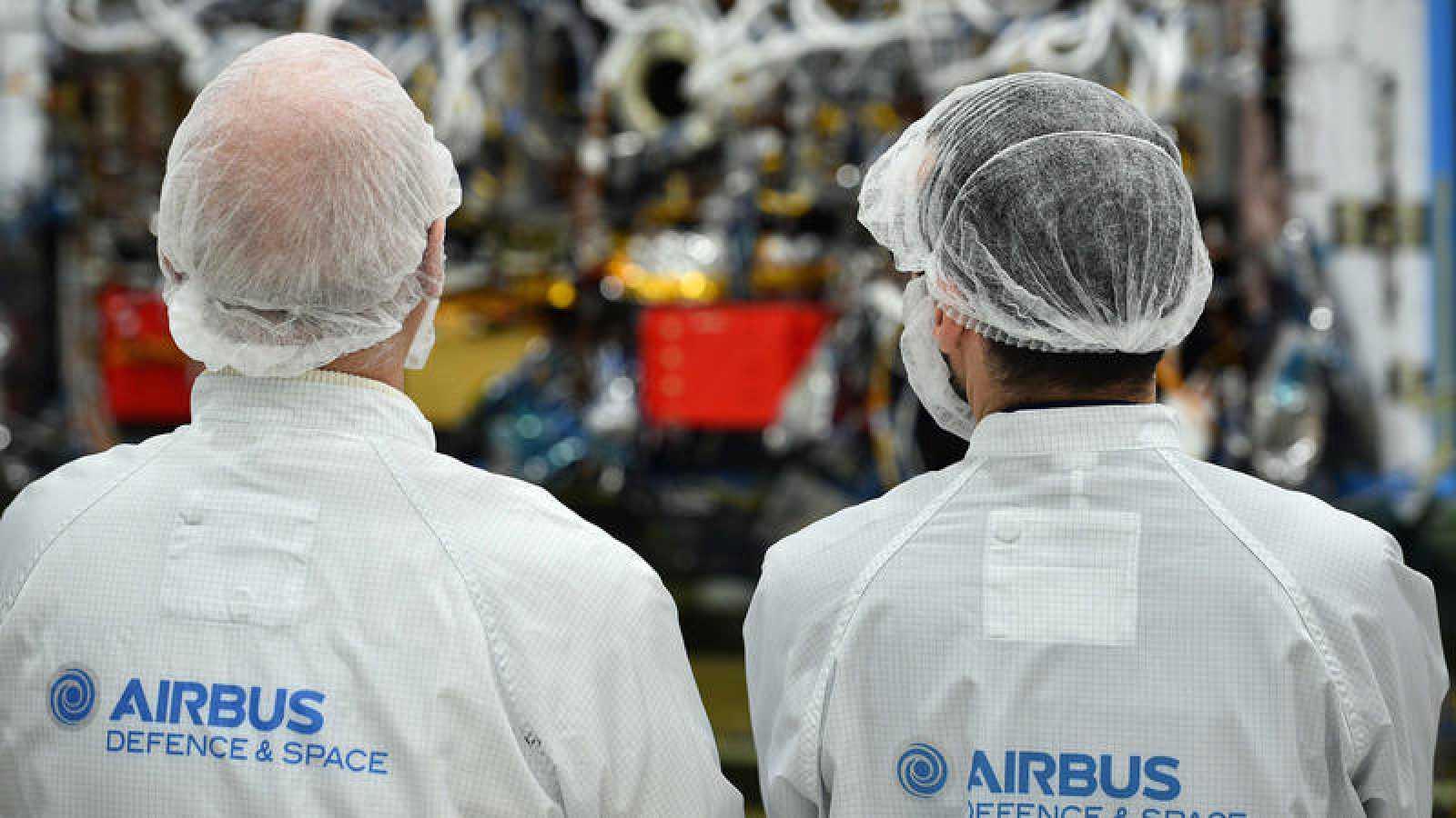 Empleados de Airbus en Portsmouth, Inglaterra