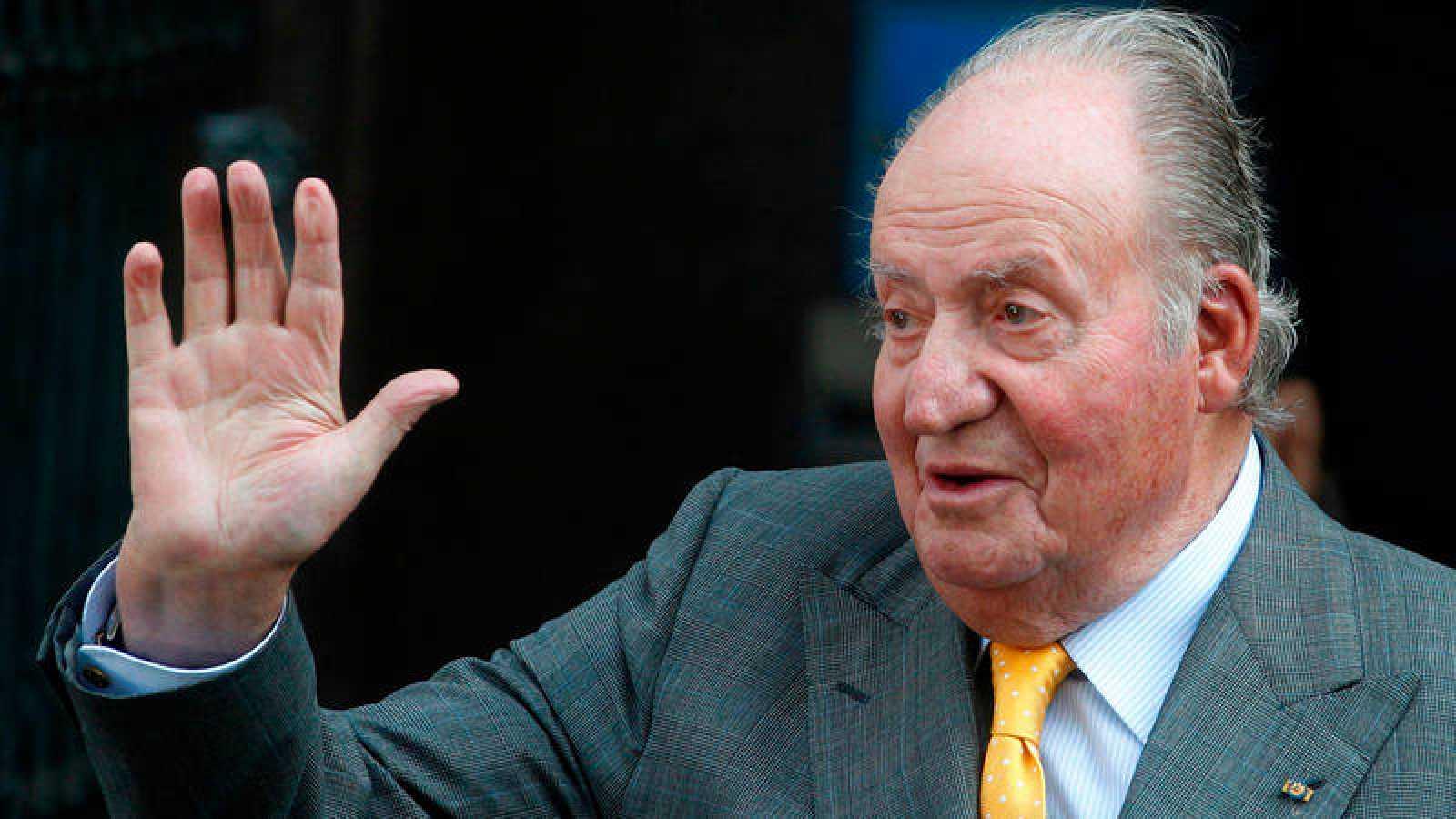 El rey emérito Juan Carlos I durante un viaje oficial a Chile