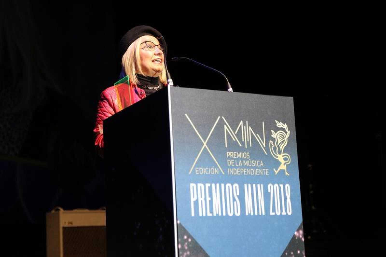 Rosa Pérez en la entrega de los Premios MIN