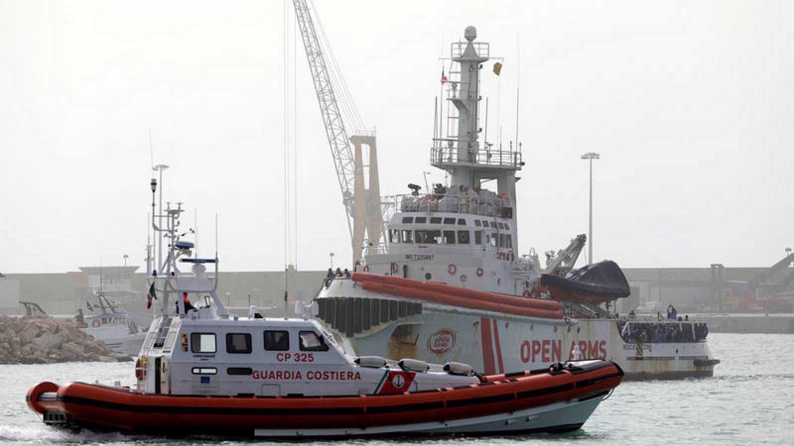 Italia inmoviliza el barco de la ONG española Open Arms y acusa a la organización de promover la inmigración ilegal