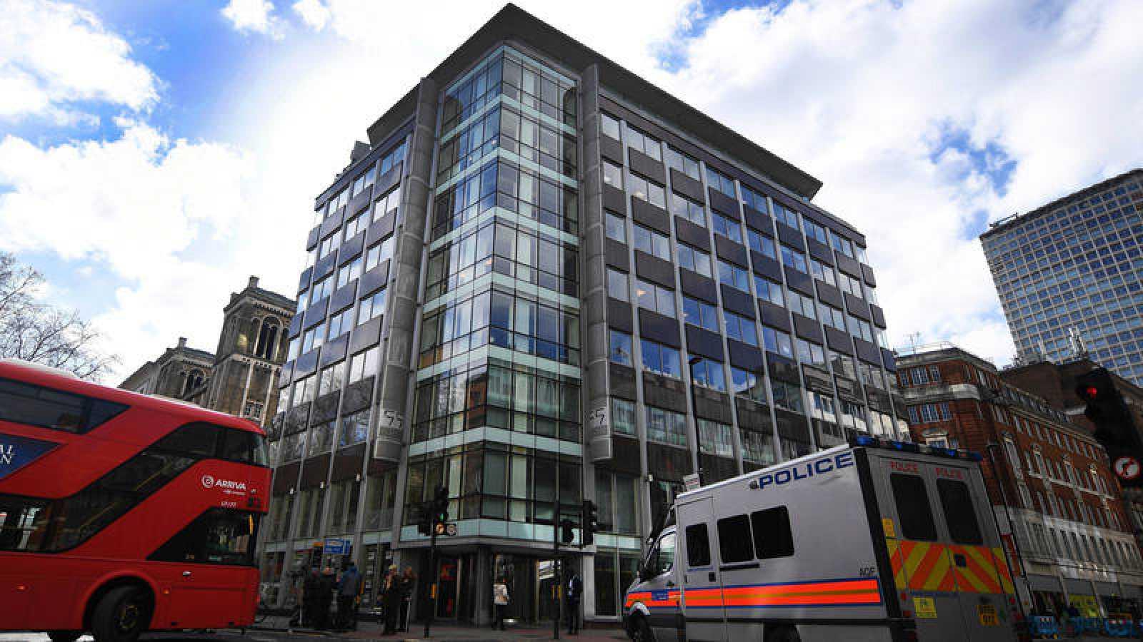 La sede de Cambridge Analytica en Londres este martes