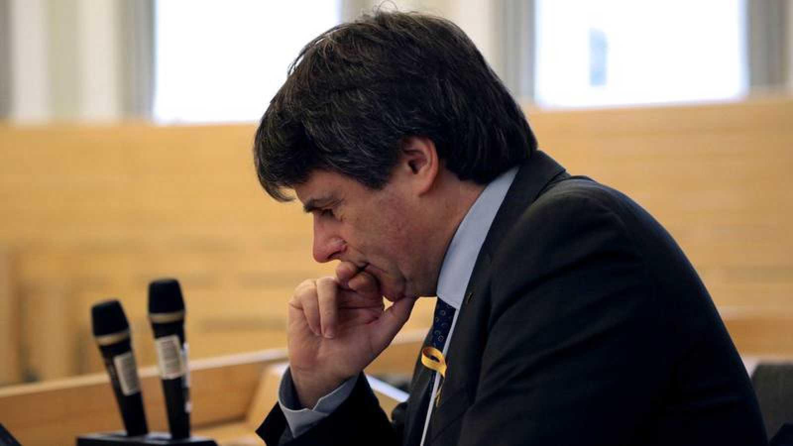 Carles Puigdemont, en una conferencia este viernes en Helsinki