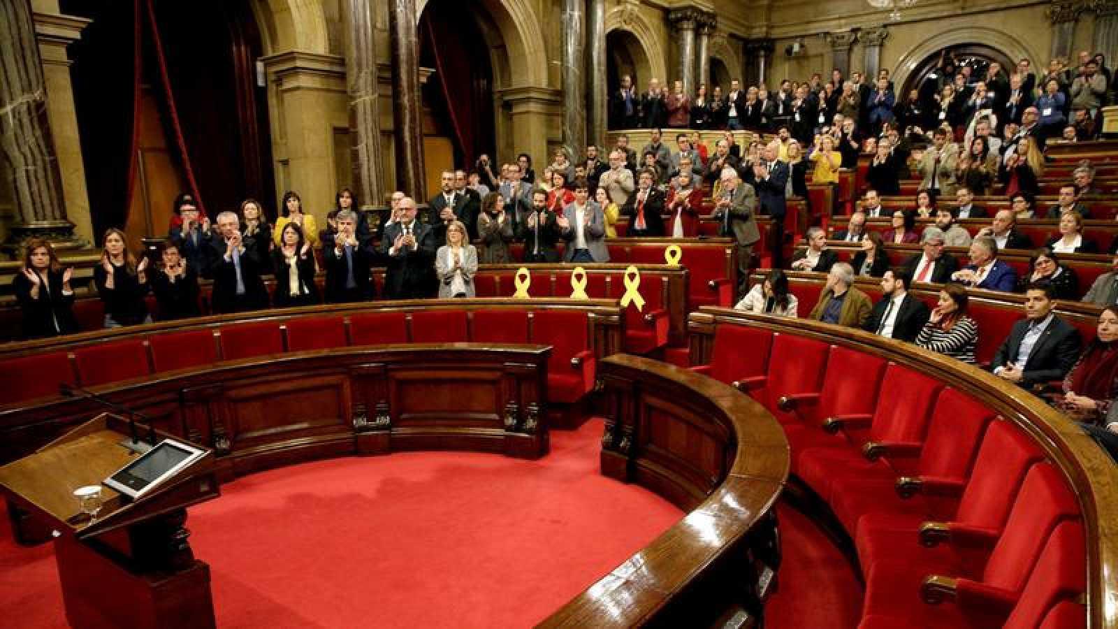 Imagen del Pleno del pasado sábado en el Parlament de Cataluña