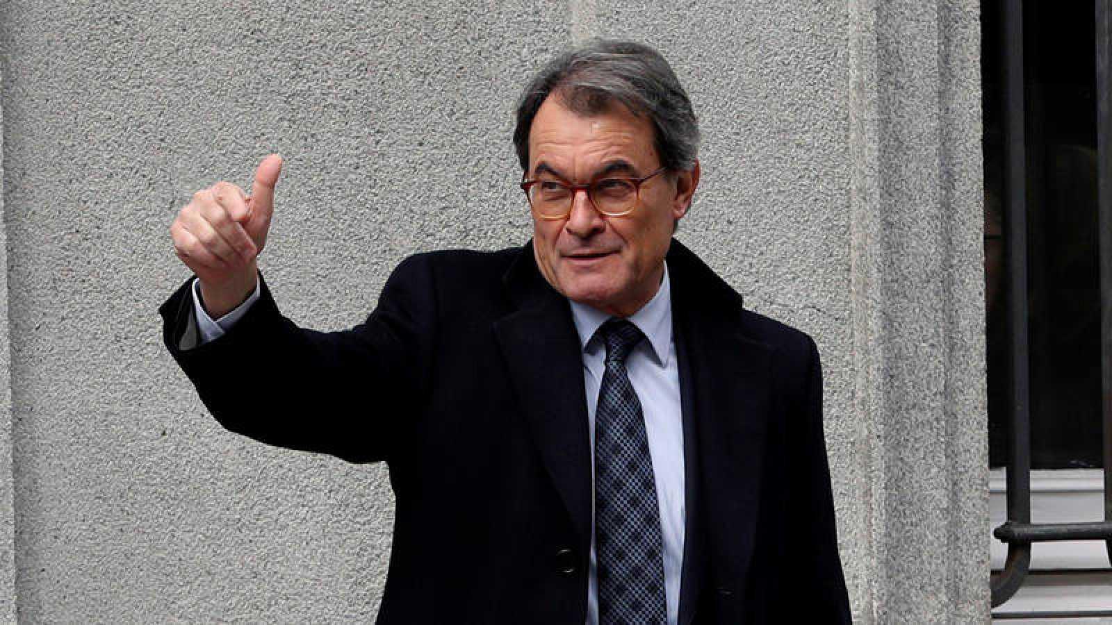 Artur Mas a su llegada al Tribunal Supremo el pasado 20 de febrero