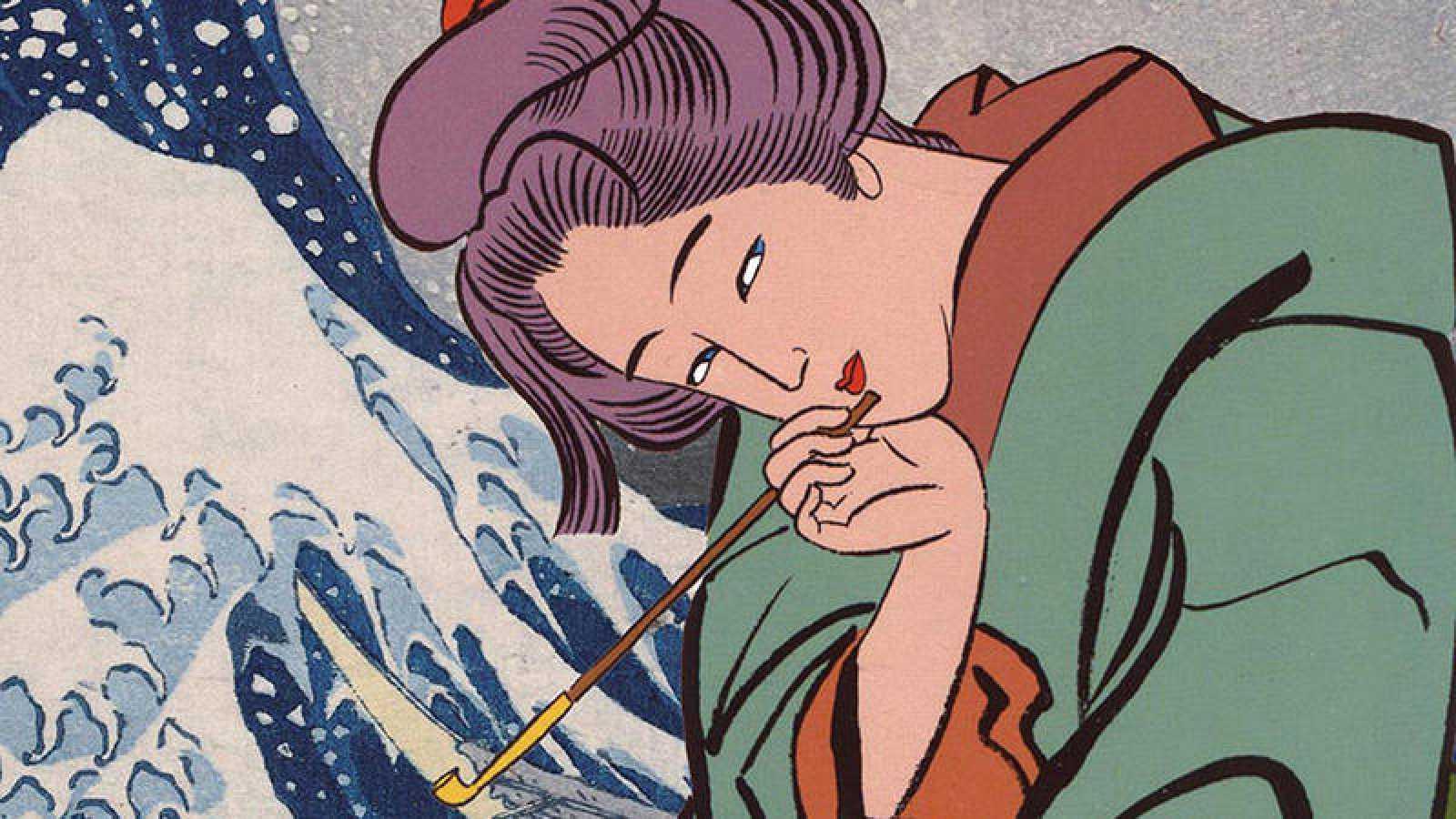 Fragmento de la portada de 'Miss Hokusai'