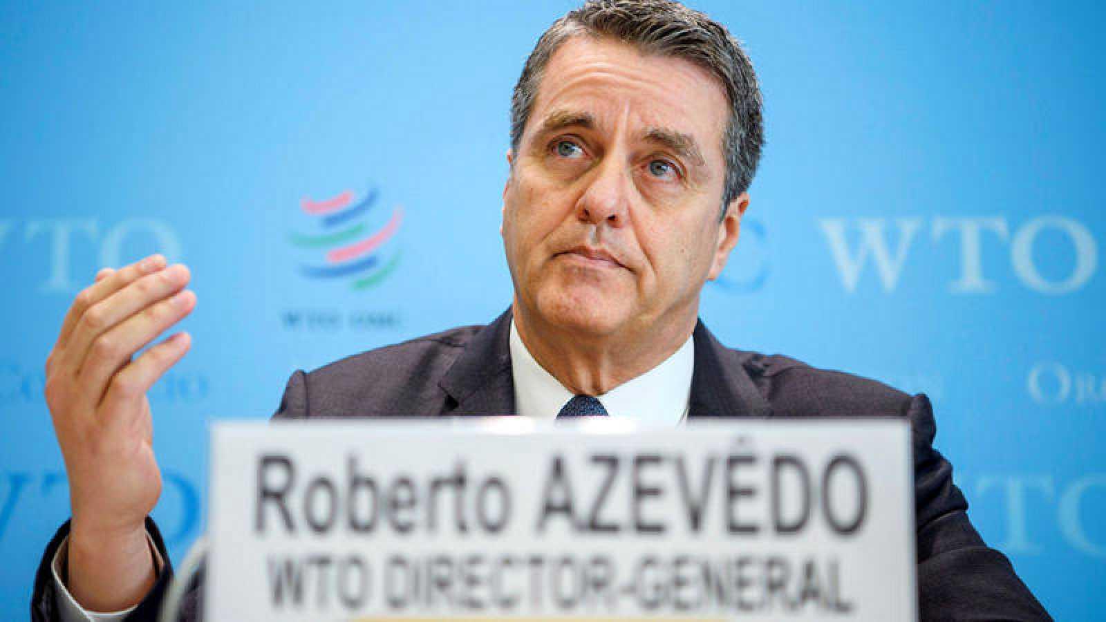 El director general de la Organización Mundial de Comercio, Roberto Azevêdo, presenta las previsiones para 2018
