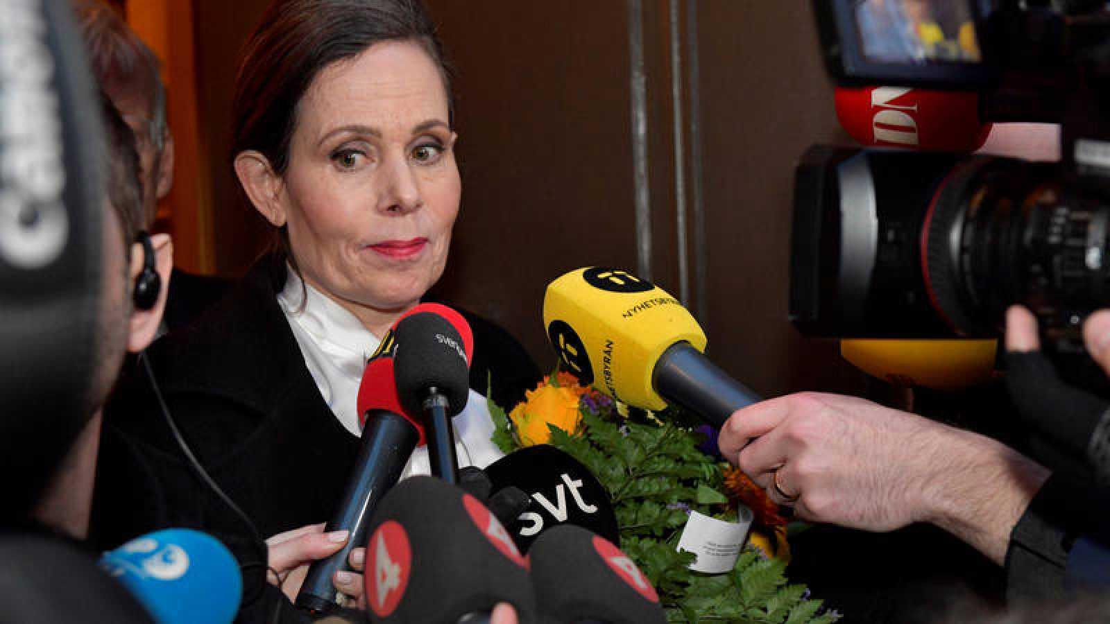 La secretaria permanente de la Academia Sueca, Sara Danius