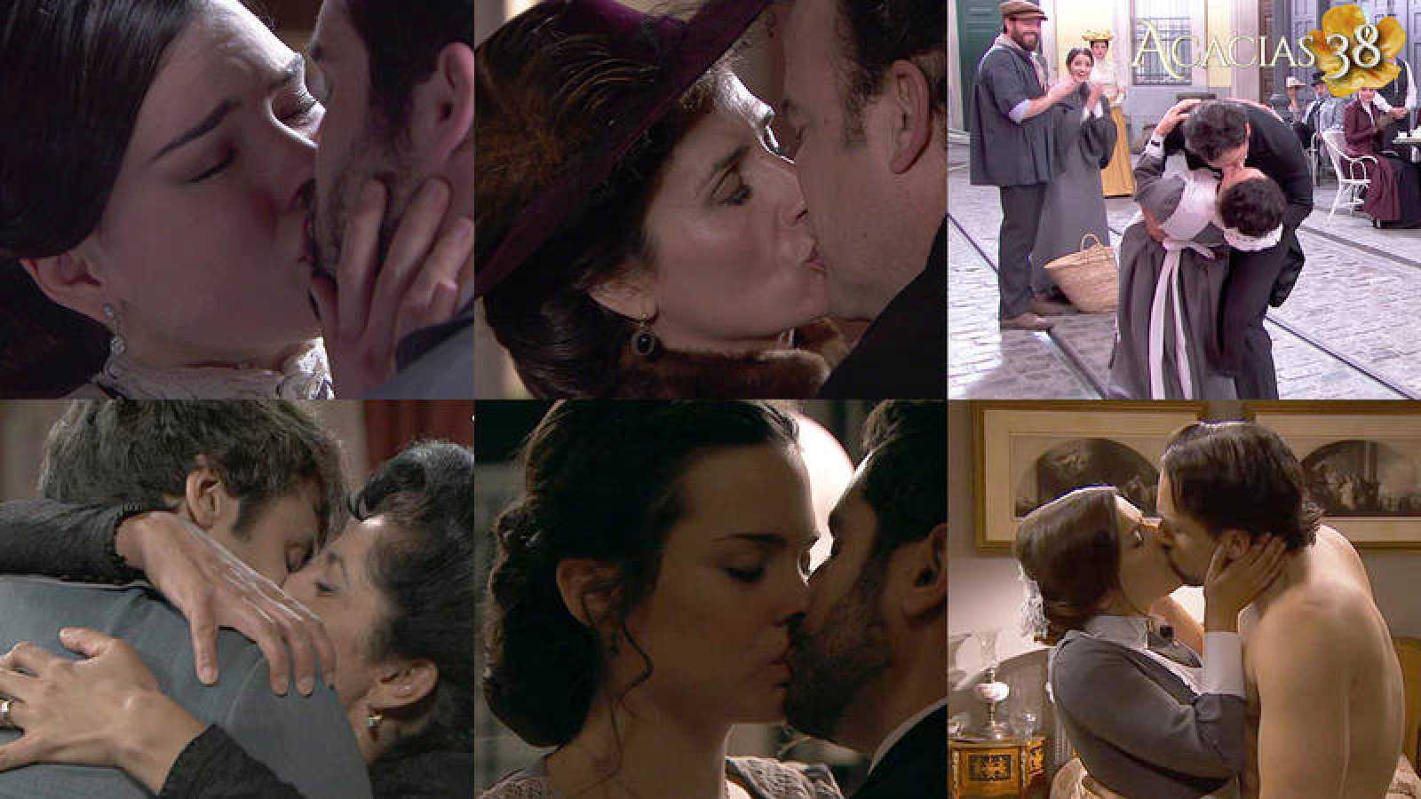 Celebramos el Día Internacional del beso eligiendo los mejores de 'Acacias 38'