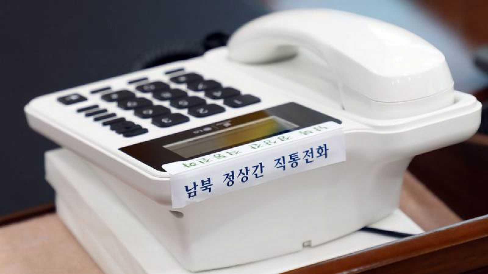 El teléfono que conecta a las dos Coreas en la oficina presidencial de Corea del Sur