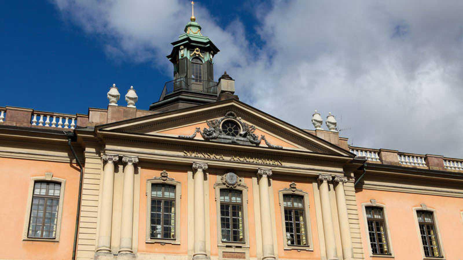 Fachada de la Academia Sueca en Estocolmo