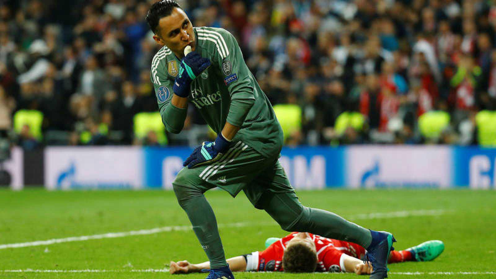 Keylor Navas, protagonista del partido contra el Bayern.