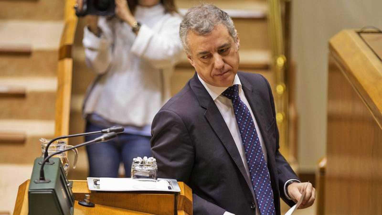 El lehendakari, Iñigo Urkullu, en el Parlamento Vasco