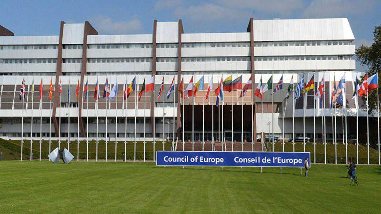 Exterior de la nueva sede del Consejo de Europa en Estrasburgo