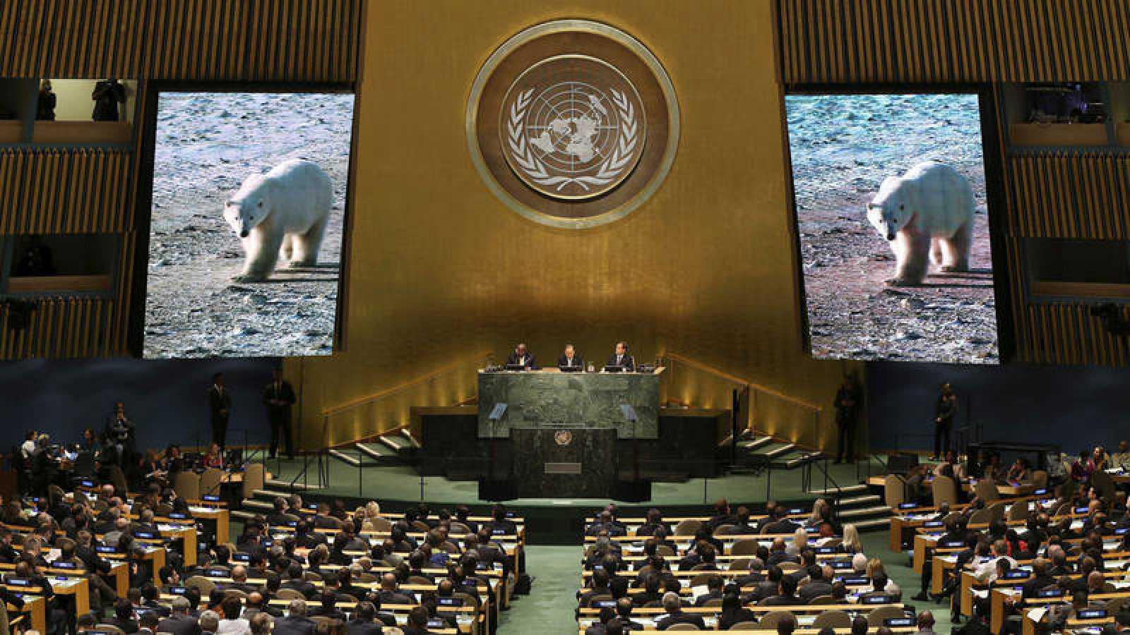 Imagen de archivo de la Cumbre del Clima celebrada en Nueva York en 2014.