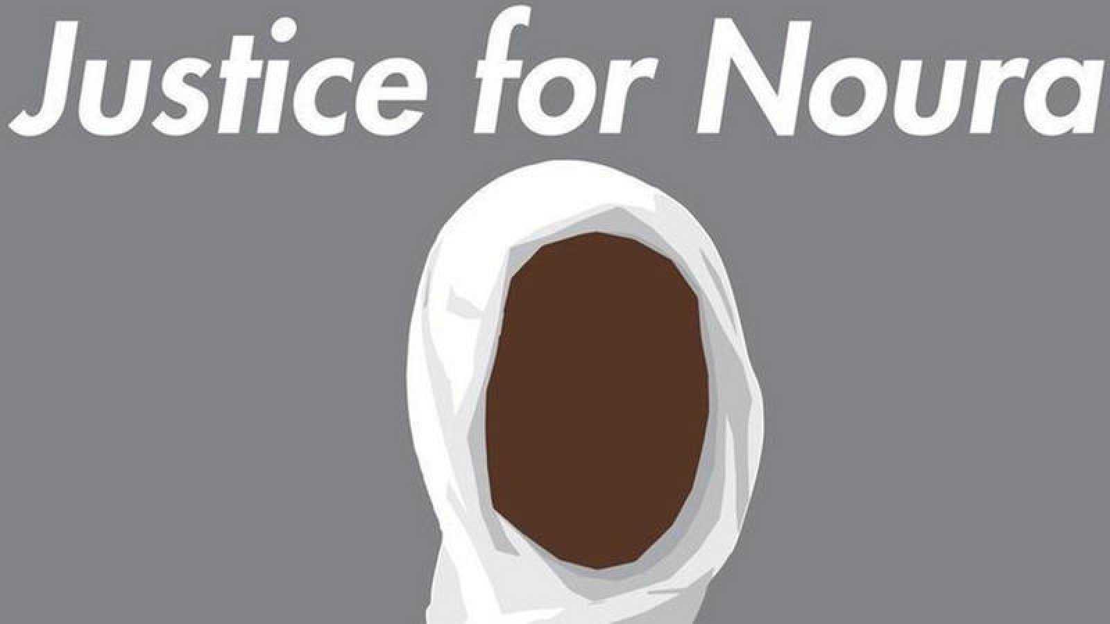 Imagen de la campaña que pide justicia para Noura Hussein en redes sociales