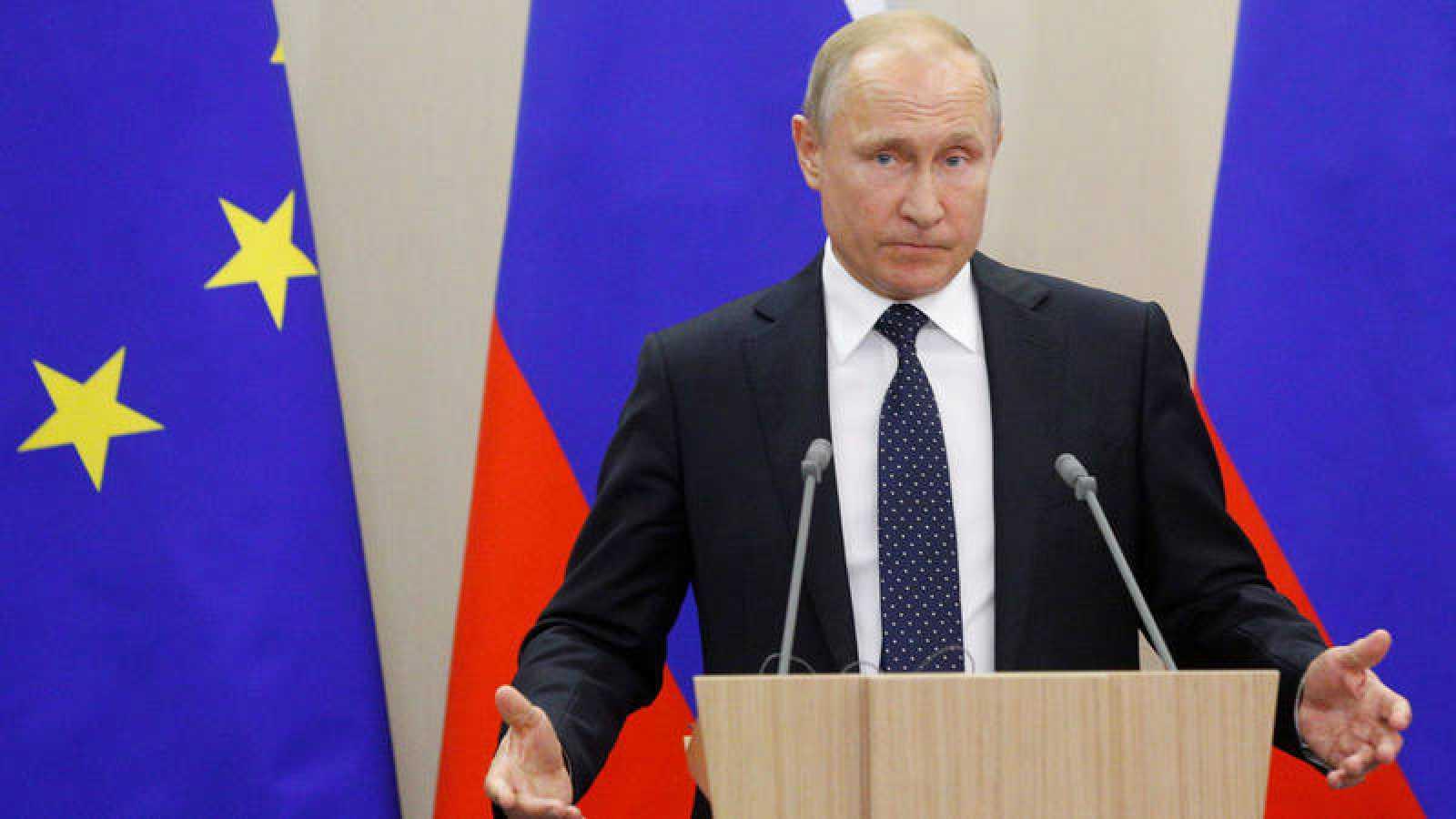 El presidente ruso, Vladímir Putin, durante una rueda de prensa en Sochi
