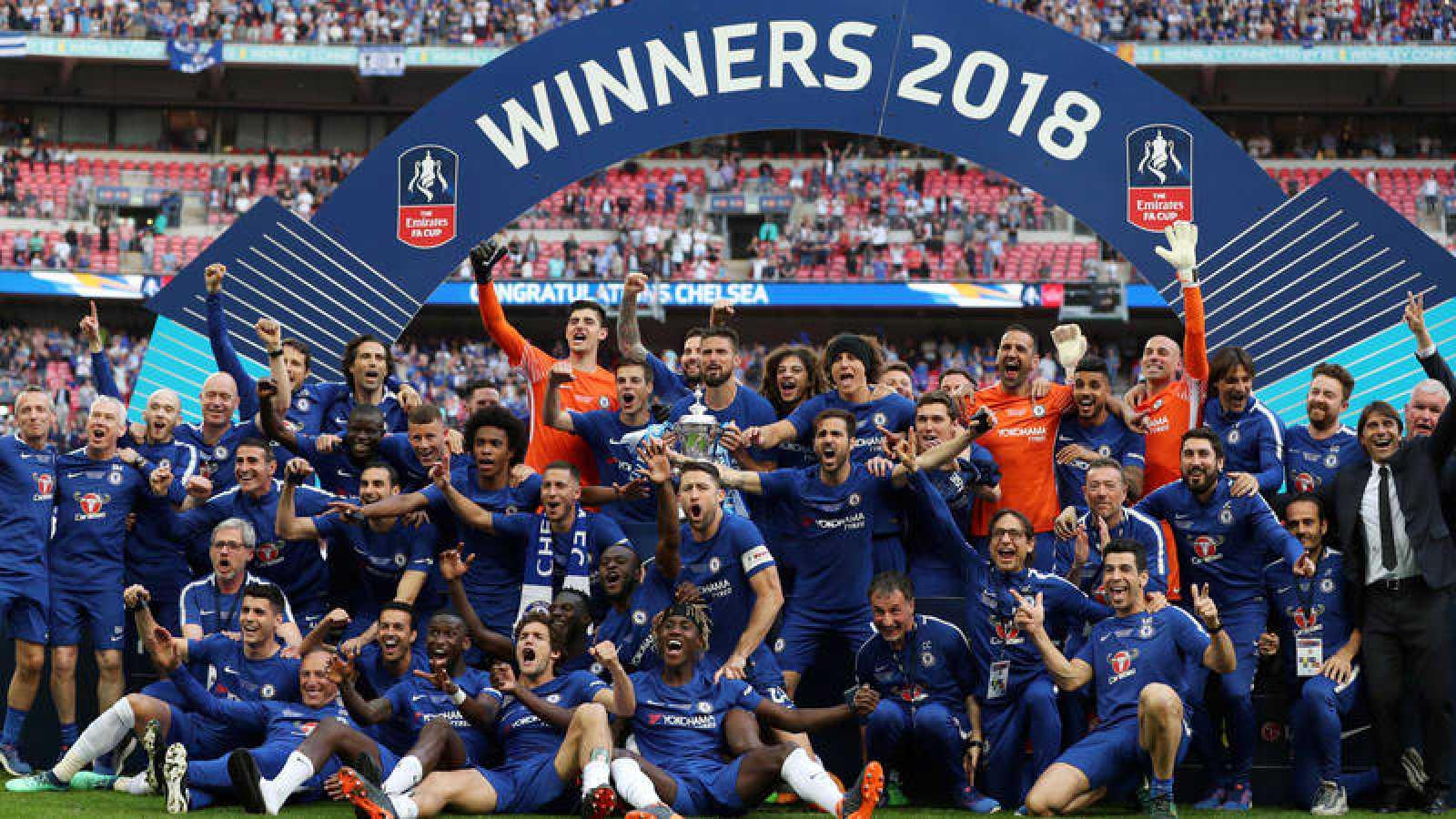 El Chelsea celebra su FA Cup 2018.