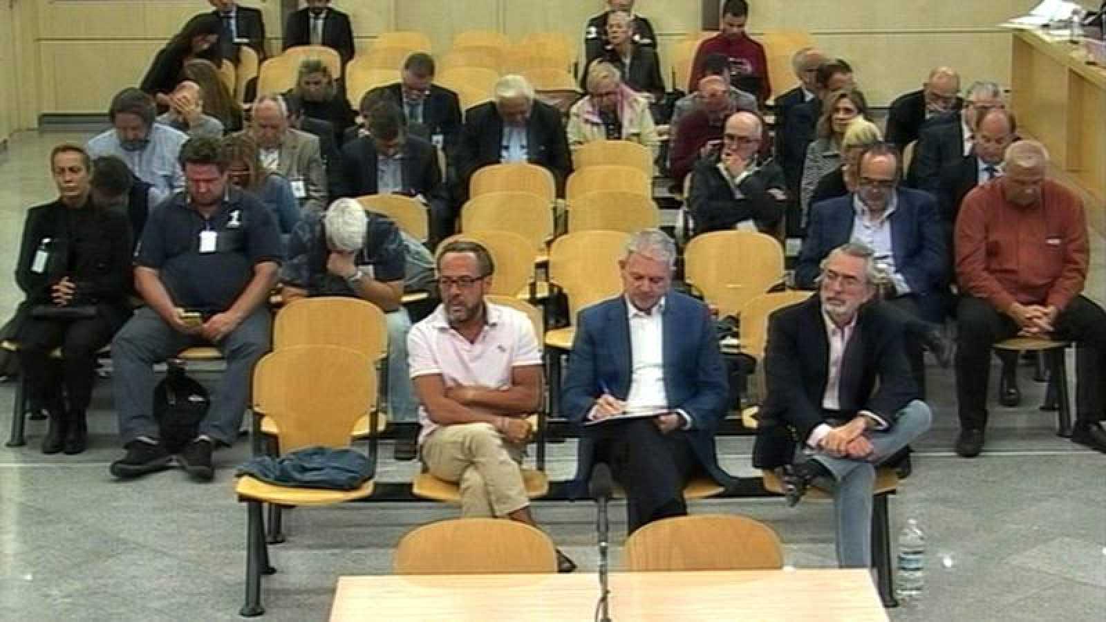 Los acusados del caso Gürtel durante el juicio en la Audiencia Nacional