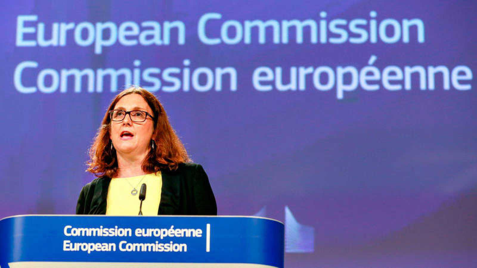 La comisaria de Comercio de la Unión Europea, Cecilia Malmström