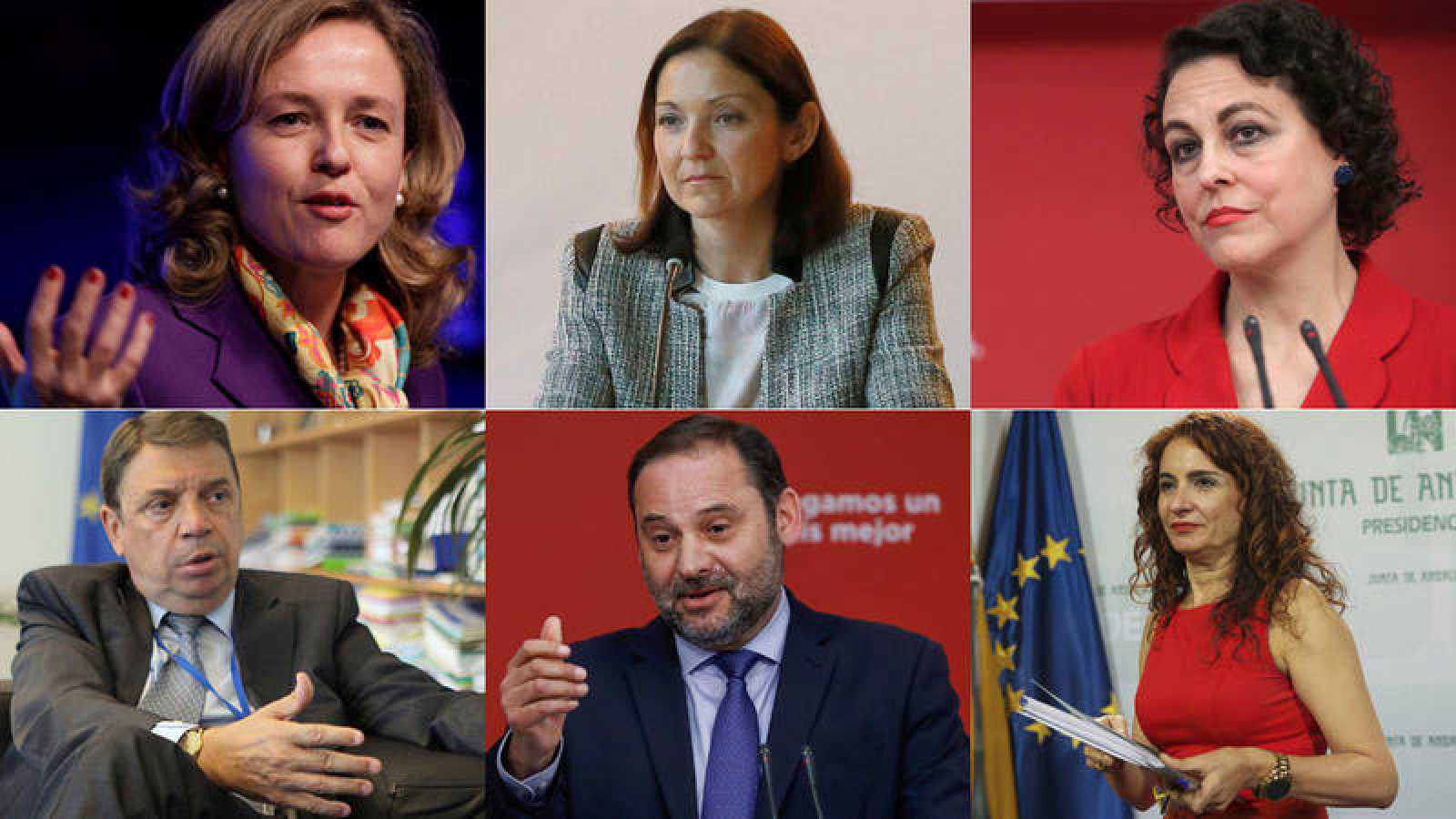 Los ministros de las seis carteras puramente económicas
