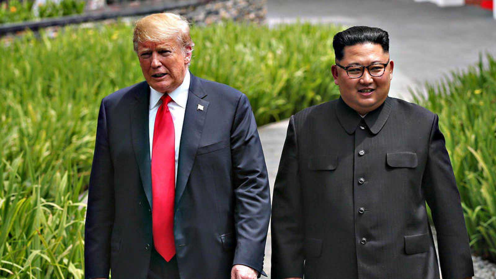 Donald Trump y Kim Jong-un, durante su encuentro en Singapur