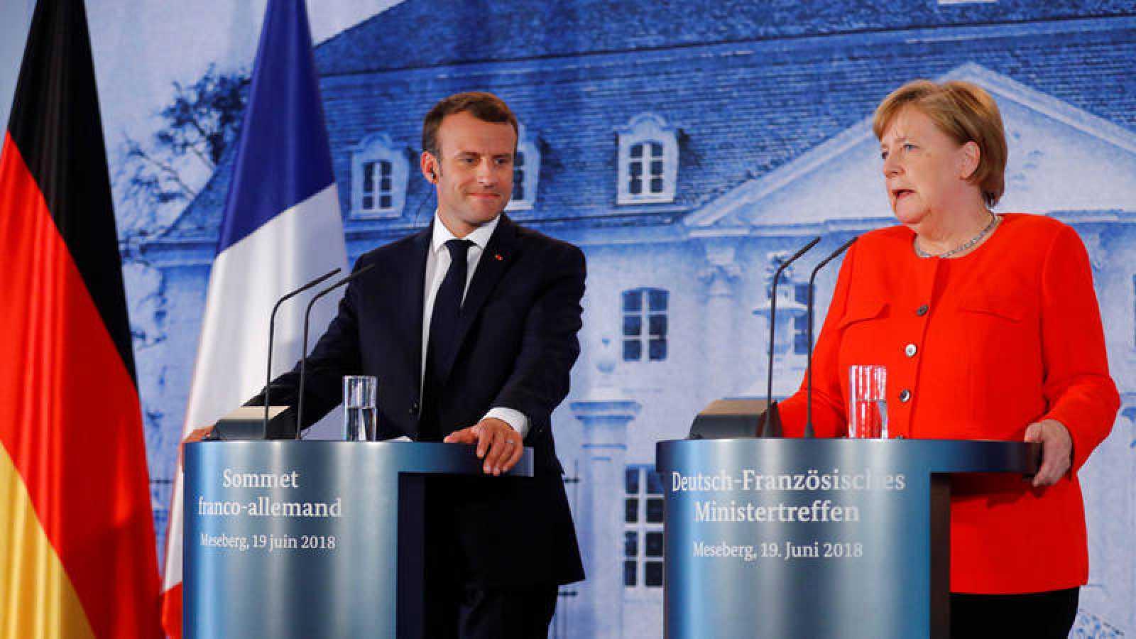 Los presidentes de Francia y Alemania se han reunido para acercar posturas de cara a la cumbre de líderes de la UE de final de mes.