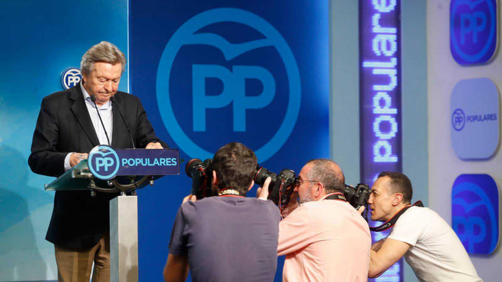 El presidente del comité organizador del congreso del PP, Luis de Grandes.