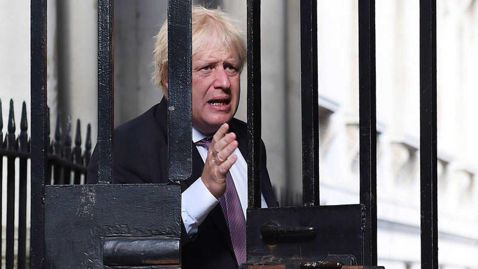 Boris Johnson, a su llegada a Downing Street el pasado 3 de julio