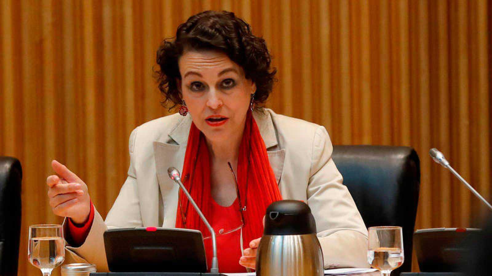 La ministra de Trabajo, Migraciones y Seguridad Social, Magdalena Valerio, ha comparecido este jueves ante la Comisión de seguimiento del Pacto de Toledo en el Congreso