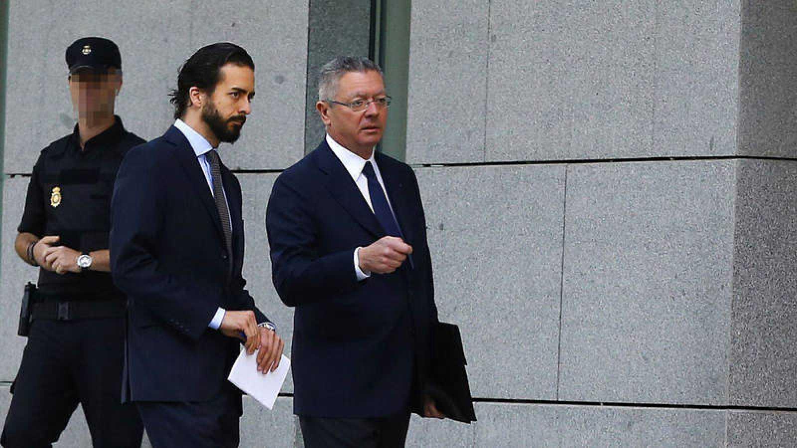 El expresidente de Madrid y exministro de Justicia, Alberto Ruiz-Gallardón, el pasado mes de junio en la Audiencia
