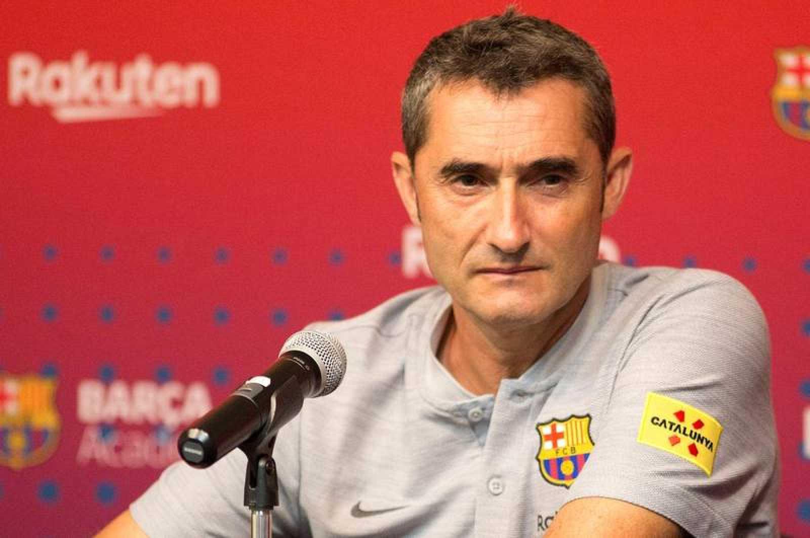 Valverde durante la rueda de prensa tras el partido ante la Roma. 43e082828c7