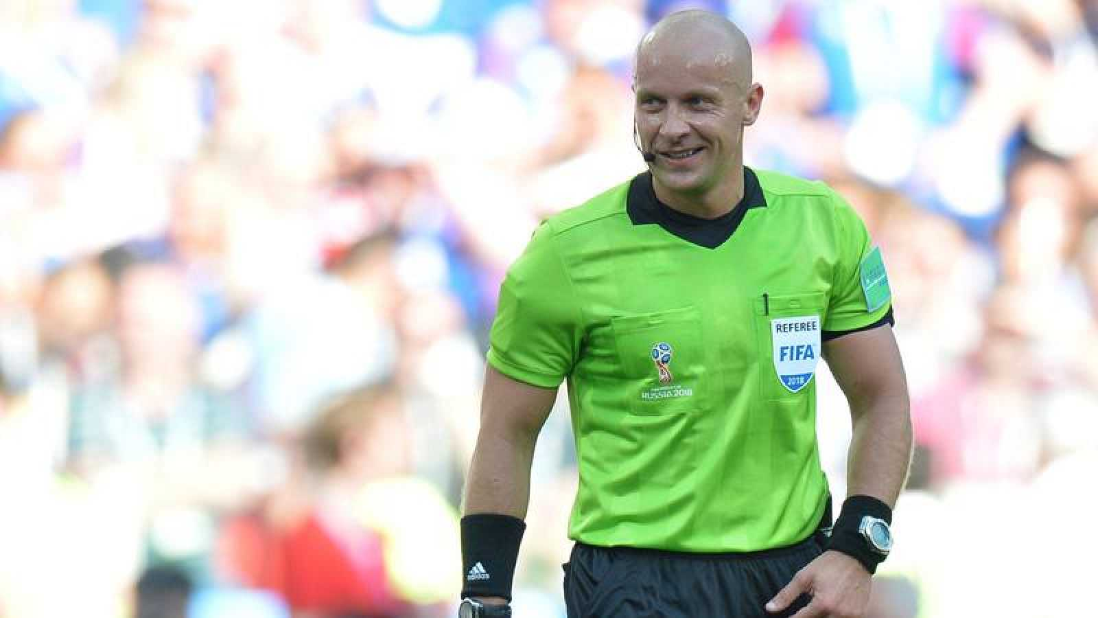 Szymon Marciniak durante el partido del Mundial de Rusia 2018 entre Argentina e Islandia.