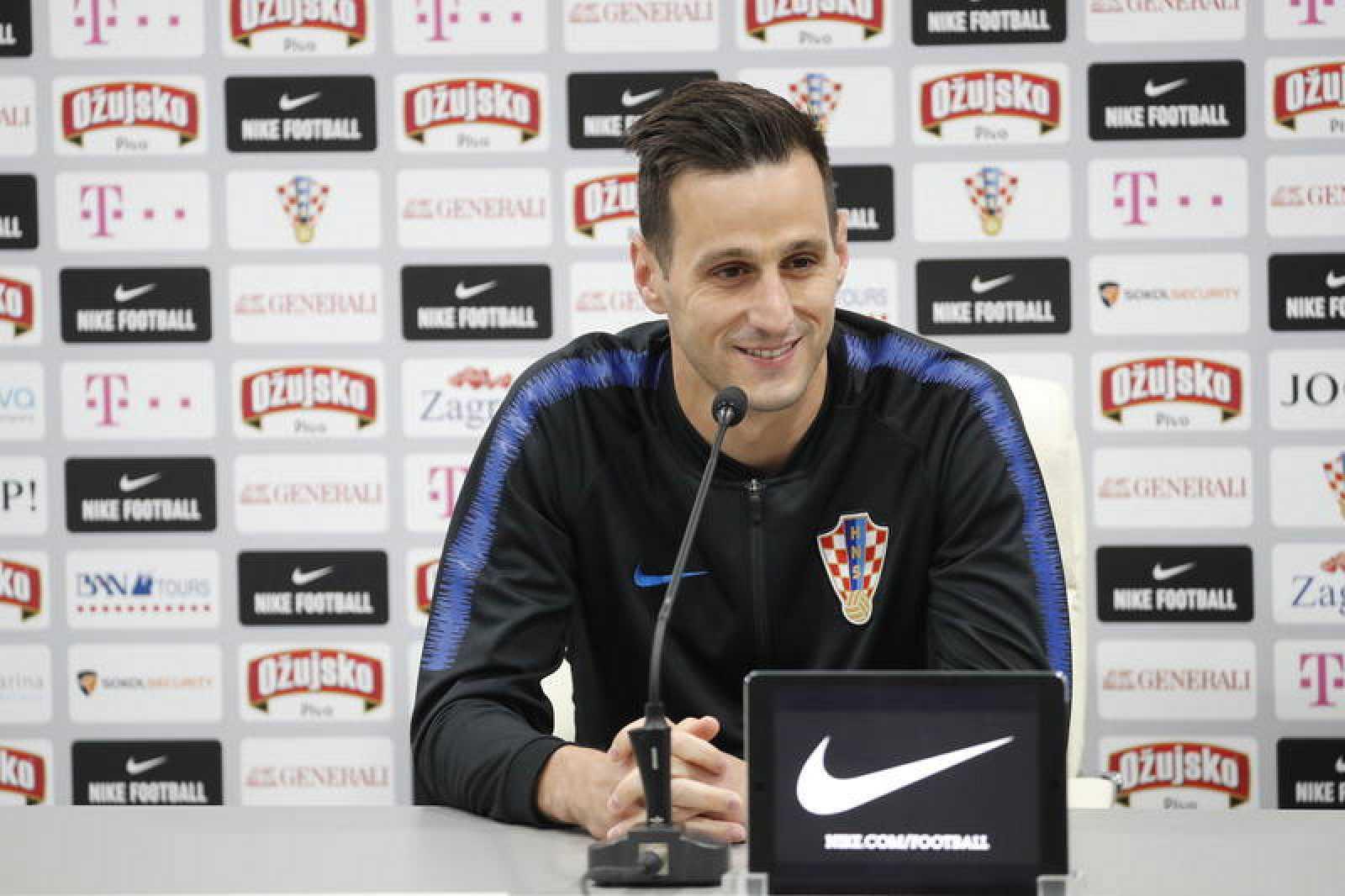 Nikola Kalinic durante una rueda de prensa en el pasado Mundial de Rusia.