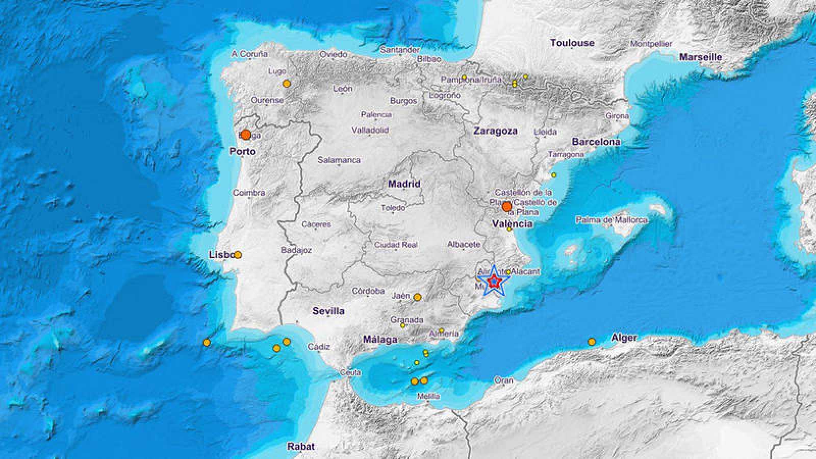 Un terremoto de magnitud 43 registrado en albatera alicante hace el terremoto de magnitud 43 se ha registrado en albatera alicante y gumiabroncs Images