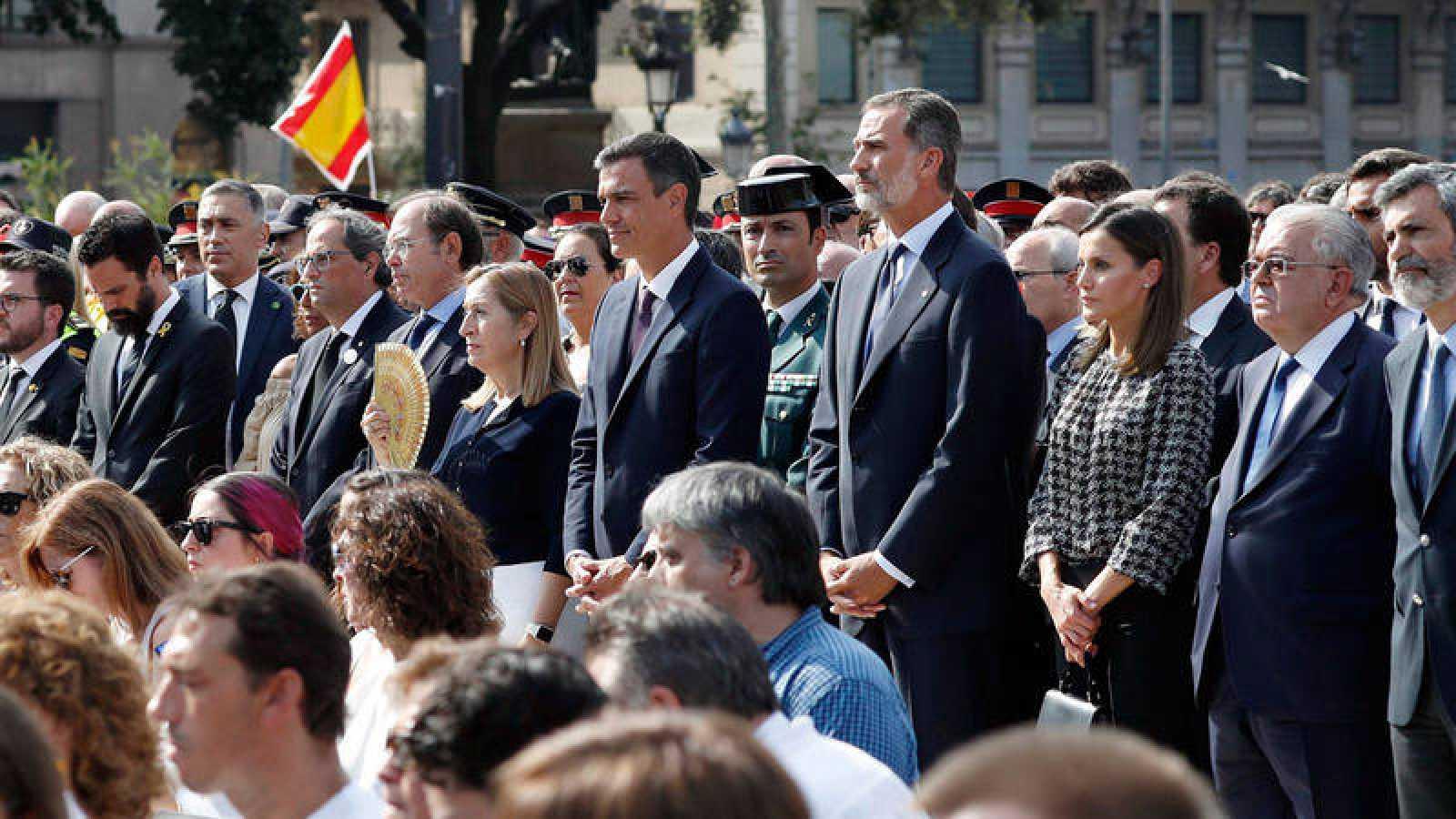 Acto por las víctimas en el primer aniversario de los atentados de Barcelona y Cambrils