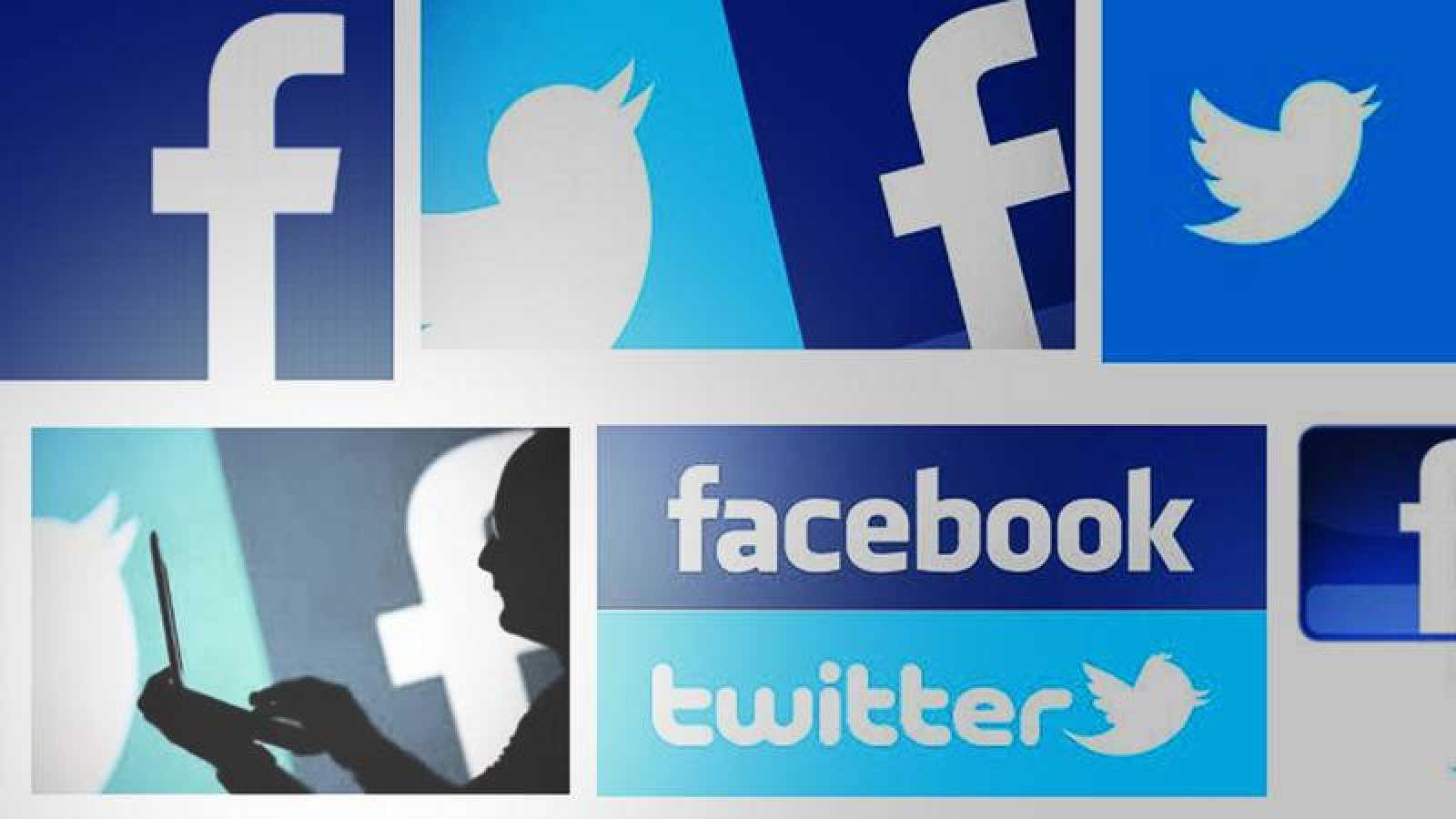 Logotipos de Twitter y Facebook en una búsqueda de Google