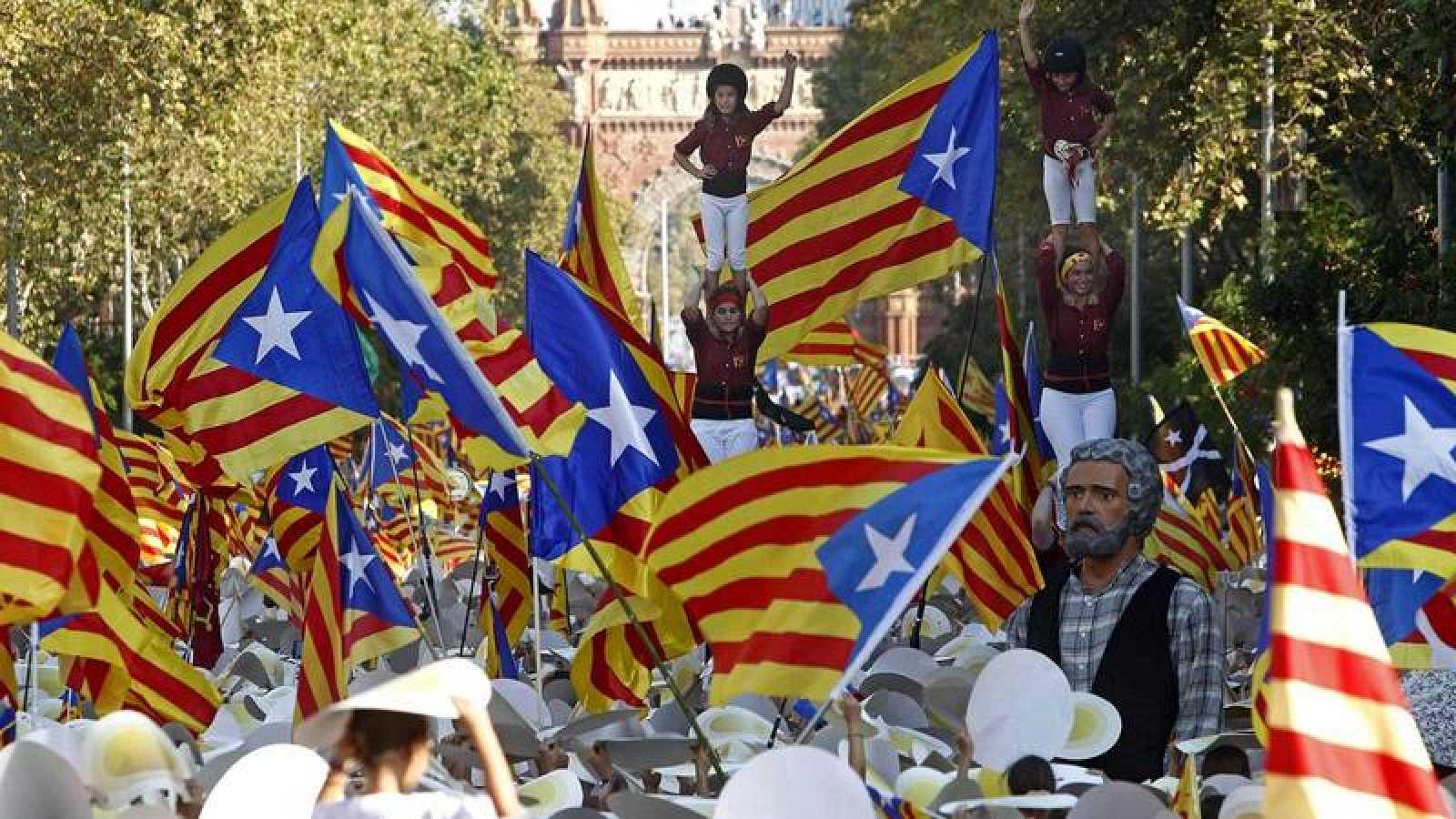 Imagen de la Diada de Cataluña en el año 2016.