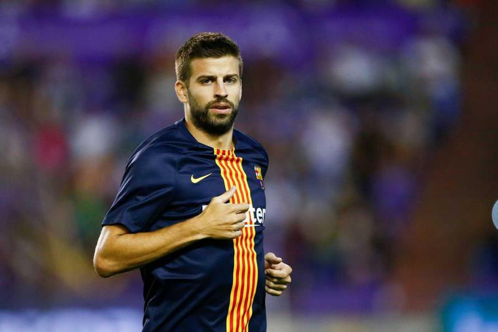 Piqué, durante el último partido de Liga del Barça