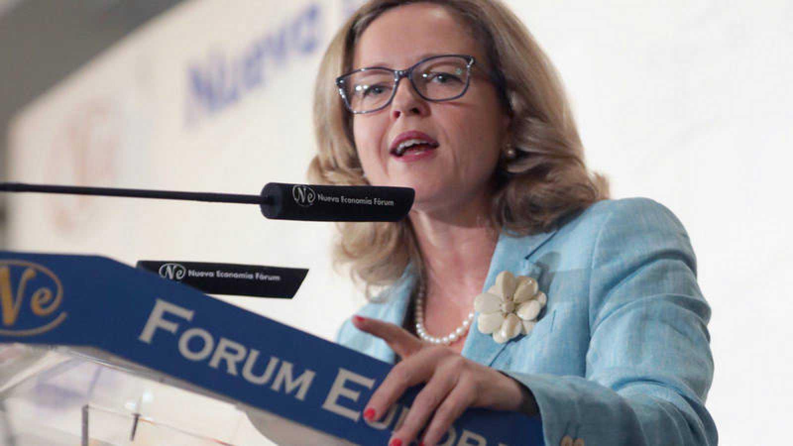 La ministra de Economía, Nadia Calviño