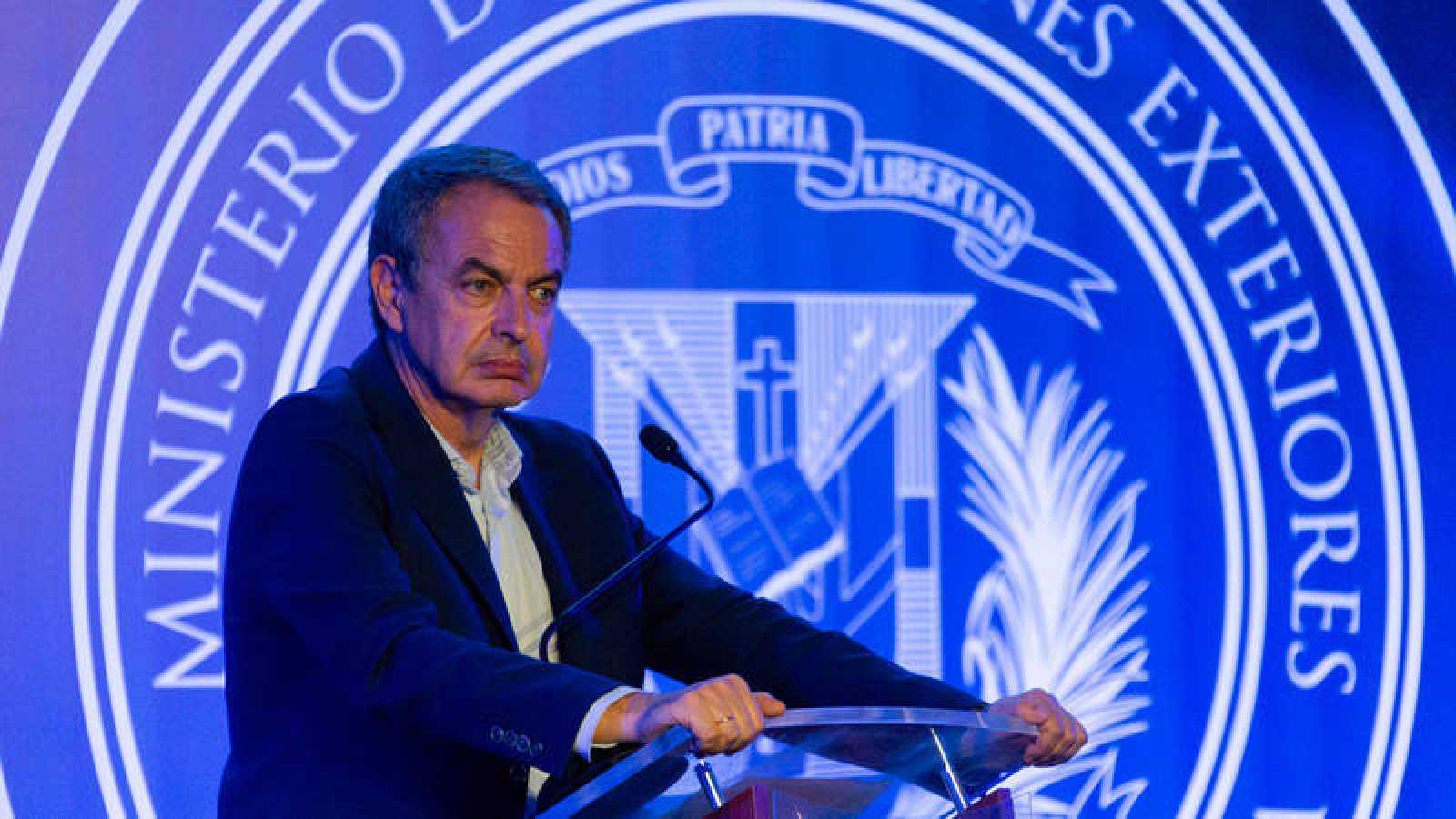 José Luis Rodríguez Zapatero durante una conferencia en Santo Domingo