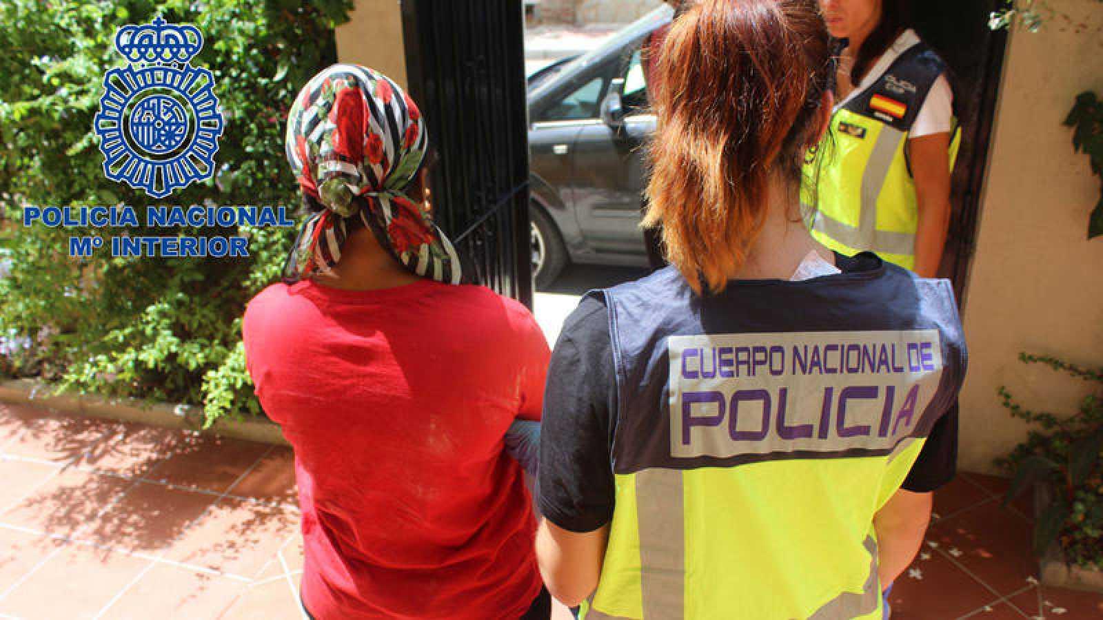 Operación contra la trata de mujeres en Málaga