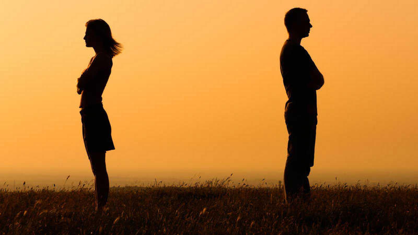 Una pareja en proceso de ruptura