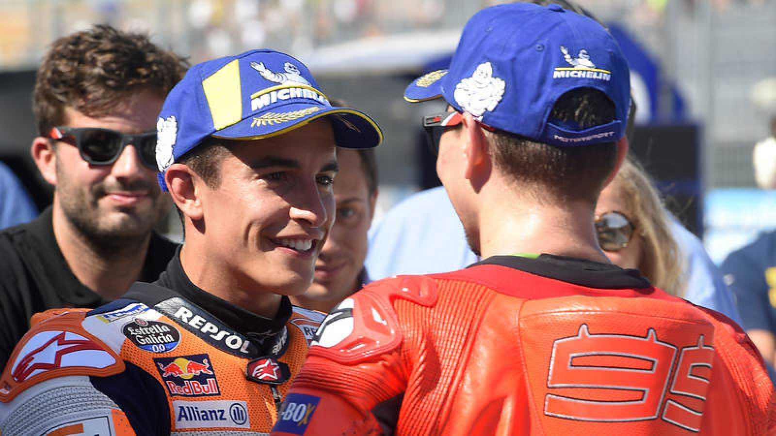 GP de Aragón de MotoGP: Marc Márquez y Jorge Lorenzo