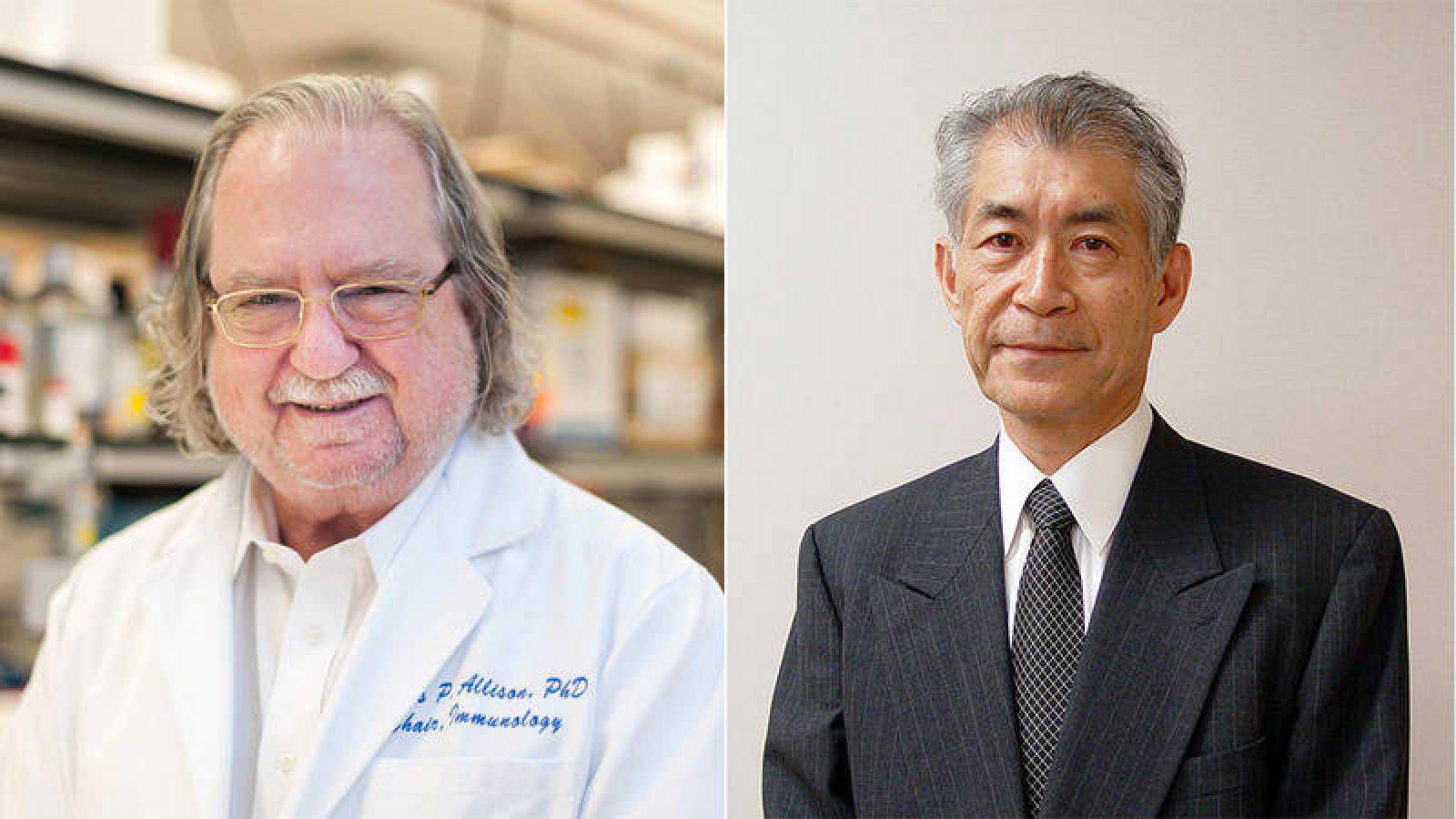 James P. Allison (izquierda) y Tasuku Honjo.