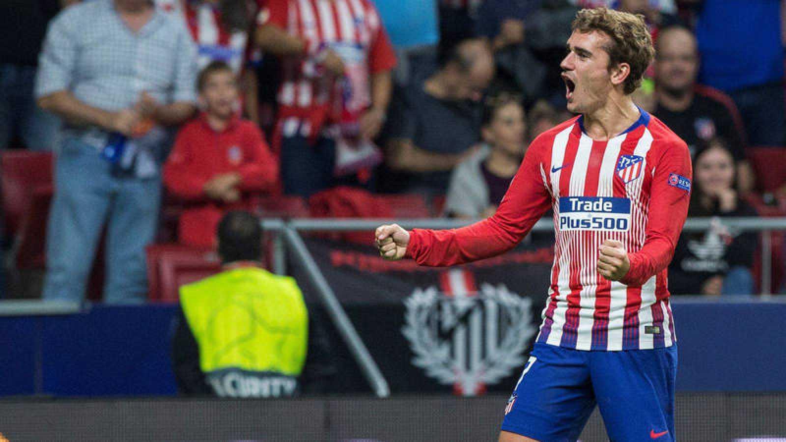 Griezmann festeja un gol en el Metropolitano.