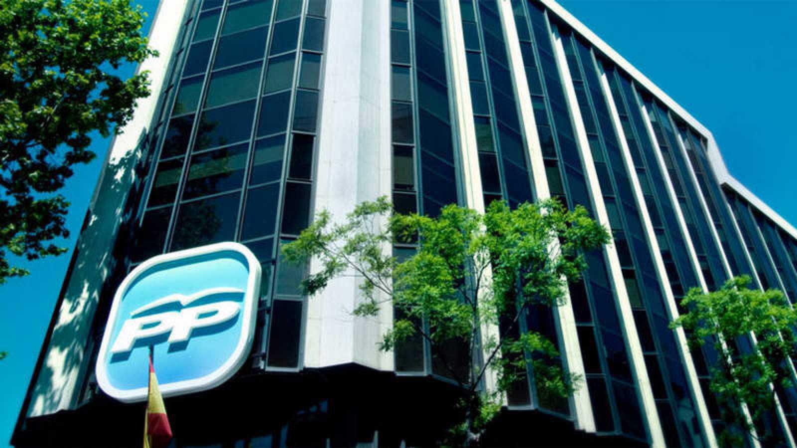 Imagen de la sede nacional del PP en Madrid