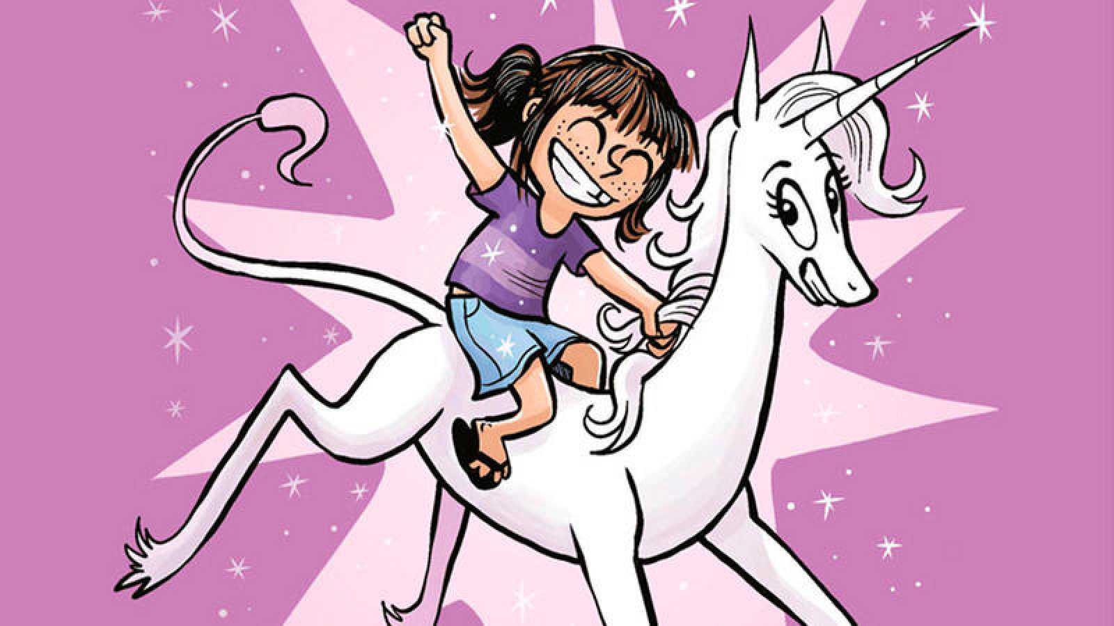 Fragmento de una portada de  Cloe y su unicornio  233f870598c