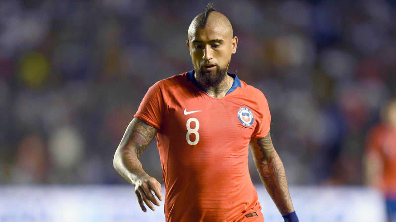 El chileno Arturo Vidal, en el partido de su selección contra México.
