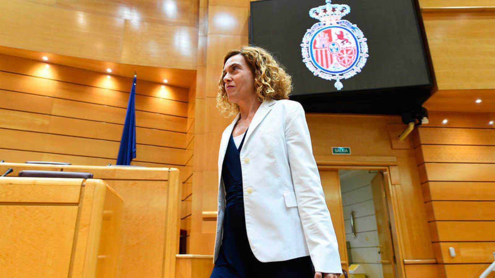 La ministra de Política Territorial, Meritxell Batet, en el Senado